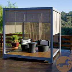 Christopher Knight Home - Christopher Knight Home Safari Outdoor Gazebo - The Safari outdoor gazebo is your very own private spot in your backyard. With room for a lounge or even outdoor sofa, you are sure to enjoy the relaxing surroundings for hours in luxury.