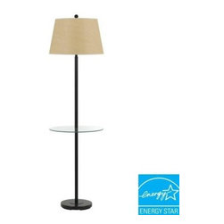 CAL Lighting - CAL Lighting s: 60 in. Andros Glass Table Lamp in Dark Bronze BO-2077GT-DB - Shop for Lighting & Fans at The Home Depot. Simple, yet elegant,this beautiful floor lamp is an easy way to light up your decor. It features a tempered glass tray table and solid metal base for added stability. It is set in a rich dark bronze finish, and topped with a warm tone fabric shade.