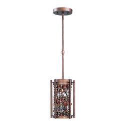 Maxim Lighting - Maxim Lighting 21573CT Trinket Chestnut Mini Pendant - 1 Bulb, Bulb Type: 60 Watt G9 Xenon, Bulb Included