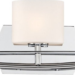"Possini Euro Design - Columbus Avenue 23"" Wide Chrome Bathroom Light Fixture - Three lights are shaded by stately etched white glass in this chrome bathroom light fixture from the Columbus Avenue collection. A curved arm secures the lights together in front of a convex sides rectangle wall plate all in sleek chrome finish. A straight accent bar underscores the white glass. Chrome finish metal. Etched white glass. Includes three 50 watt G9 bulbs. 5 3/4"" high. 23"" wide. Extends 4 1/2"".  Chrome finish metal.    Etched white glass.   Includes three 50 watt G9 bulbs.   5 3/4"" high.   23"" wide.   Extends 4 1/2""."