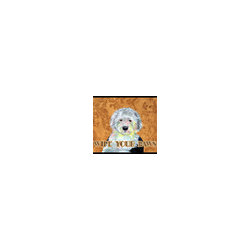 Caroline's Treasures - Old English Sheepdog Wipe Your Paws Indoor or Outdoor Mat 18 x 27 Lh9457Mat - Old English Sheepdog Wipe your Paws Indoor or Outdoor Mat 18x27 LH9457MAT Indoor/ Outdoor Floor Mat 18 inch by 27 inch Action Back Felt Floor Mat / Carpet / Rug that is Made and Printed in the USA. A Black binding tape is sewn around the mat for durability and to nicely frame the artwork. The mat has been permanently dyed for moderate traffic and can be placed inside or out (only under a covered space). Durable and fade resistant. The back of the mat is rubber backed to keep the mat from slipping on a smooth floor. Wash with soap and water.