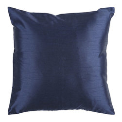 Surya Rugs - Navy 22 x 22 Pillow - Add simple elegance to any room with this solid pillow. The color navy accents this decorative pillow. This pillow contains a poly fill and a zipper closure. Add this 22 x 22 pillow to your collection today.  - Includes one poly-fiber filled insert and one pillow cover.   - Pillow cover material: 100% Polyester Surya Rugs - HH032-2222P