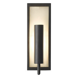 Murray Feiss - Murray Feiss Mila Transitional Wall Sconce X-BRO1541BW - The Mila Wall sconce offers a clean, modern look that will work in any room. It features a frosted glass diffuser and a rotating reflector. This reflector controls the amount of direct and indirect light that is emitted.  This wall sconce provides flexibility since it can be installed either horizontally or vertically, and it is available in White Opal and Brushed Steel or frosted Amber with Oil Rubbed Bronze.