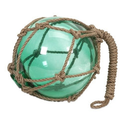 IMAX CORPORATION - Green Buoyant Glass Float - This glass float is the perfect Nautical accent! Hang from the rope loop or place as a filler item in a sand-filled bowl. Find home furnishings, decor, and accessories from Posh Urban Furnishings. Beautiful, stylish furniture and decor that will brighten your home instantly. Shop modern, traditional, vintage, and world designs.