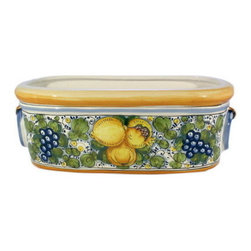 Artistica - Hand Made in Italy - Tuscania: Oblong Jardiniere Cachepot - Tuscania Collection:
