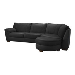 IKEA of Sweden - VRETA Corner sofa with end unit right - Corner sofa with end unit right, Mjuk black