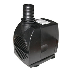 Alpine Fountains - Submersible Stream Pump (550 GPH) - Choose Capacity: 550 GPHFlow control. Oil free magnetic driven, epoxy protected ceramic shaft for longer life. Cost saving, energy efficient operation. Reliable and quiet submersible water pumps. Warranty: Three years550 GPH Pump:. 16 ft. power cord. Power consumption: 45 watts. Max flow: 550 gph. Max head: 116 in.. Outlet connection: 1 in.. 3 in. L x 4 in. W x 6 in. H (3 lbs.)900 GPH Pump:. 33 ft. power cord. Power consumption: 60 watts. Max flow: 900 gph. Max head: 136 in.. Outlet connection: 1 in.. 3 in. L x 5 in. W x 6 in. H (4 lbs.). Care InstructionOur stream pumps are ideally suited for replacement pumps in large concrete, resin statuary, birdbaths utilizing moving water, waterfall and water gardening applications. These energy- efficient pumps are compact to also fit into statuary bases.