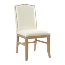 Sunpan Modern - Maison Parsons Chair (Set of 2) - Features: -Frame: Solid wood.-Side stretchers for reinforced strength.-An over-sized French country inspired dining chair featuring silver nail head.-Please note that although every attempt has been made to ensure accuracy, all dimensions are approximate and colors may vary.-Please note that the leg color on Sunpan dining chairs does not always match the dining table color.-Maison collection.-Collection: Maison.-Distressed: No.-Upholstered Seat: Yes .-Upholstered Back: Yes .Dimensions: -Seat height: 20.5''.-Overall Product Weight: 22 lbs.Warranty: -This item is deemed acceptable for both residential and nonresidential environments such as restaurants, hotels, lounges, offices and reception areas. Please note that this item carries the manufacturer's standard ONE YEAR WARRANTY from the date of purchase. Please contact Wayfair customer service or sales representatives for further information.