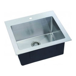 """Lenova - Lenova 25""""X 22"""" X 12"""" Undermount Single Bowl Kitchen Sink Stainless Steel - Hand made to our specs Hand Made to our specs in 16 gauge stainless steel with scratch resistant satin finish and 5 side sound baffling, plus out superior X Channel drainage technology."""