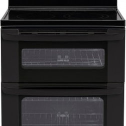 LG - LDE3035SB 6.7 cu. ft. Capacity Freestanding Electric Range With Double Oven  Sup - This LDE3035S Freestanding Electric Range from LG comes with the new EasyClean feature that cleans your oven in 20 minutes with water low heat and a simple wipe