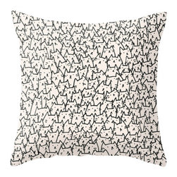 """Contemporary Outdoor Pillow Cover - 16x16 - Outdoor Throw Pillow Cover made from weather- and fade-resistant 100% Spun Polyester poplin fabric, a soft and inviting compliment for any outdoor seating area. Individually cut and sewn by hand, the pillow cover measures 16"""" x 16"""", features a double-sided print and is finished with a concealed zipper for ease of care. Does not include pillow insert."""