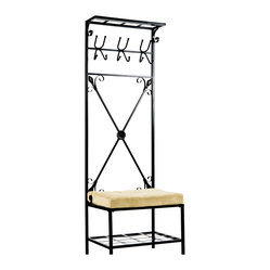 Leon Entryway Storage Rack/Bench Seat