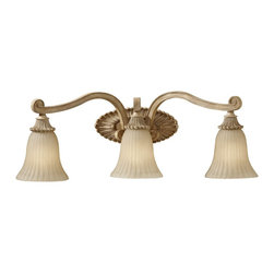 Murray Feiss - Murray Feiss Blaire Traditional Bathroom / Vanity Light X-WAM-30881SV - Comfort, luxury, and shine are the defining features of this contemporary wall pendant. The India Scavo glass shade is romantic and outstanding for your lounge, office, bathroom, or dining room. The medium aged wood finish is is sleek and radiant so you can enjoy the friendly sparkle and amazing style. Share it with everybody.