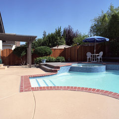 traditional pool by Case Design/Remodeling of San Jose