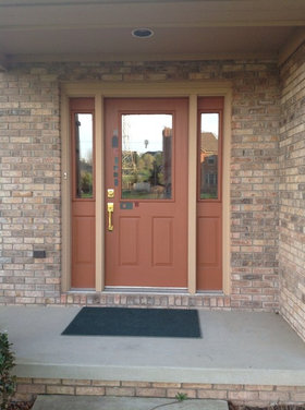 Front Door Color On Traditional Style Home