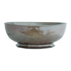 "Juliska - Juliska Pewter Stoneware Large Serving Bowl - Juliska Pewter Stoneware Lg. Serving BowlThis classic bowl is an elegant and modern statement piece and easily able to mix with other patterns. Fill it with an abundance of orchard riches - from figs, to pears, to clementines. Dimensions: 14"" W x 6"" H Capacity: 7 Qt"