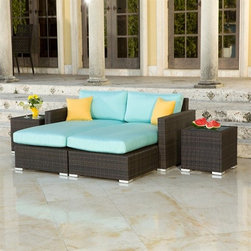 Source Outdoor Lucaya Outdoor Daybed Set - I could sleep for hours on this outdoor daybed. I love that the cushions unzip for easy removal and washing. It would be the perfect spot to rest on a lazy summer's day.