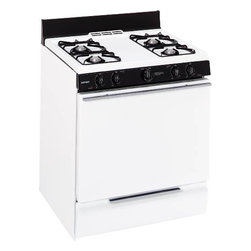 "Hotpoint - Gas Range Electric Ignition, 30"" - Extra-large, standard clean oven"