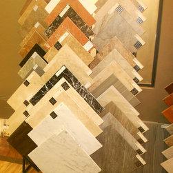 Elegant Interiors Showroom - Marble tiles we have showcased in our showroom.