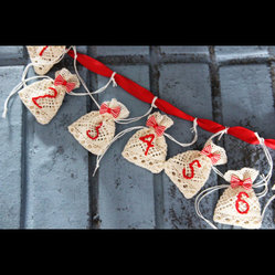 Advent Calendar 24 Lace Pouches by Protea Design