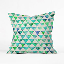 Diamond a Dozen Pillow Cover - Oceanic colors unite to create a festive pillow cover. Next beach party? You're there and so is this textile.