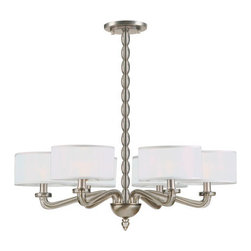 Crystorama - Crystorama 9506-SN Luxo 6 Light Chandeliers in Satin Nickel - From kitchens to kids rooms to dining rooms and urban lofts, our Luxo collection brings understated luxury to any room.