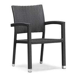 ZUO - Boracay Dining Chair - Add some style to your breakfast with the Boracay set. Polished chairs around an espresso table create a welcoming outdoor space. Constructed from epoxy coated aluminum to survive any weather. Sold separately.