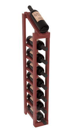 Wine Racks America - 1 Column 8 Row Display Top Kit in Pine, Cherry Stain + Satin Finish - Make your best vintage the focal point of your cellar or store. The slim design is a perfect fit for almost any space. Our wine cellar kits are constructed to industry-leading standards. You'll be satisfied. We guarantee it. Display top wine racks are perfect for commercial or residential environments.