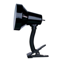 Dainolite - Dainolite DXL16-BK 1 Light Clip on Specialty Lamp - Features: