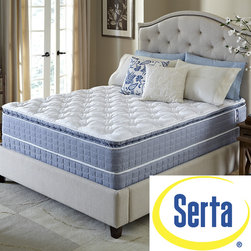 Serta - Serta Revival Pillowtop King-size Mattress and Foundation Set - Fall into restful sleep with the comfort and support you desire with this pillowtop mattress and foundation from Serta. This mattress is designed to offer the quality you expect from the Serta brand at an exceptional value. White Glove Service included.