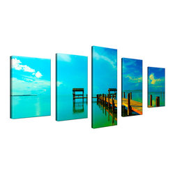 Ready2HangArt - Ready2HangArt Bruce Bain 'Key's Pier' 5-piece Set Canvas Wall Art - This beautiful 5-piece canvas wall art is from photographer Bruce Bain. His work employs elements of imagination to capture a variety of subjects. It is fully finished, arriving ready to hang on the wall of your choice.