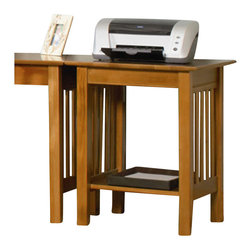 Atlantic Furniture - Atlantic Furniture Mission Printer Stand in Caramel Latte - Atlantic Furniture - Printer Stands - AH10227 - The Mission Printer Stands incorporate a lower shelf for added storage with distinct side panel designs. Pair them with a Writing or Work Table and reclaim wasted desk space from your printer.