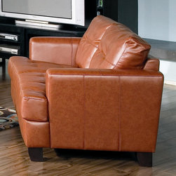 Samuel Contemporary Leather Loveseat by Coaster Sku: 501592 - Samuel Contemporary Leather Loveseat by Coaster Sku: 501592
