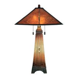 Quoizel Lighting - Quoizel MC6793M Amber Multi-Color Table Lamp - 2, 60W A19 Medium