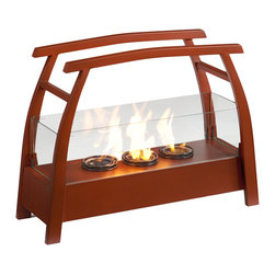 Holly & Martin - Rhome Portable Indoor/Outdoor Gel Fireplace - It's hard enough to find time to relax - you shouldn't have to find space too! This portable fireplace is the perfect choice for any home in search of a cozy, portable fireplace for indoor and outdoor use.