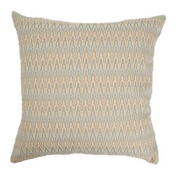 "The Pillow Collection - Caelic Zigzag Pillow Blue/Yellow - The vibrant zigzag pattern of this 18"" throw pillow is a stylish addition to your home decorations. The shades of blue and yellow gives this throw pillow an interesting look. This contemporary square pillow is made of 100% Polyester fabric. Hidden zipper closure for easy cover removal.  Knife edge finish on all four sides.  Reversible pillow with the same fabric on the back side.  Spot cleaning suggested."