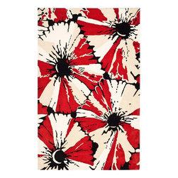 Safavieh Soho SOH729A Black - Red Area Rug - Safavieh Soho SOH729A Black - Red Area Rug