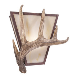 Steel Partners Inc - Vegas Sconce - ANTLER - Every piece we create is unique handcrafted at our factory in Chehalis, Washington, USA. Due to this, lead times are 2 to 4 weeks.