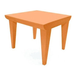 Kartell - Bubble Club Table, Matte Terracotta - Designed by Philippe Starck.