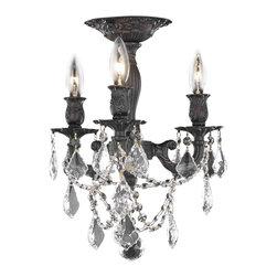 Elegant Lighting - Elegant Lighting 9203F13DB/RC Flush Mount - Elegant Lighting 9203F13DB/RC Rosalia Royal cut Flush Mount