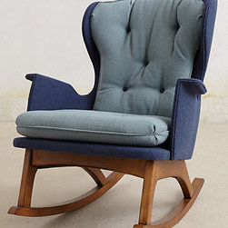 Anthropologie - Finn Rocker - I have no need for a rocker, but I've loved this chair for years now. Someday. Maybe.