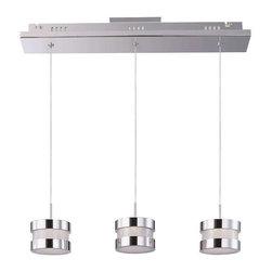ET2 Lighting - ET2 Lighting E22683-01PC Modern Multi Light Linear Pendant in Polished Chrome - ET2 Lighting E22683-01PC Modern Multi Light Linear Pendant In Polished Chrome