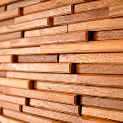 Trail Mix Wood Tiles - If you're looking to add a little dimension to your walls, these wood tiles from Everitt & Schilling Tile are a unique choice. Made of scraps collected from cabinet and door makers, they're easy on the environment and could would make a killer accent wall.