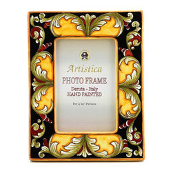 Artistica - Hand Made in Italy - Photo Frame: Deruta Vario Deluxe Black - Deruta Photo Frames: