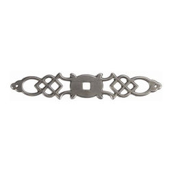 Hickory Hardware - Manor House Backplate (Set of 10) (Silver Stone) - Finish: Silver Stone.