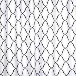 Sweet Jojo Designs - Princess Black, White and Purple Shower Curtain by Sweet Jojo Designs - The Princess Black, White and Purple Shower Curtain by Sweet Jojo Designs, along with the bedding accessories.
