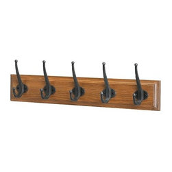 Carina Bengs - LEKSVIK Rack with 5 hooks - Rack with 5 hooks, antique stain