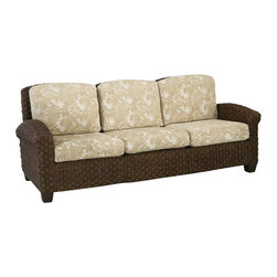 Home Styles - Home Styles Cabana Banana II Three Seat Sofa in Cinnamon Finish - Home Styles - Sofas - 540461 - Bring back the island essence with the Cabana Banana II Three Seat Sofa from Home Styles. This eco-friendly piece features frames that are made of 100 percent sustainable natural materials. Construction is from hand braided, four over two woven pattern, banana leaves; mahogany solids, and plywood in a honey finish.