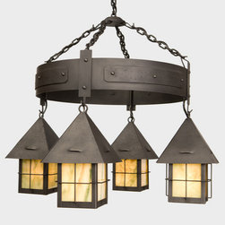 Steel Partners Lighting - Steel Partners Chandelier - LAPAZ - Round 2048 - -Finish Shown: Old Iron