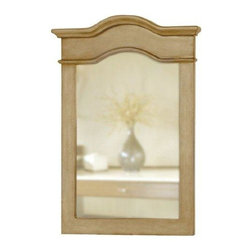 Belle Foret - Belle Foret Portrait Mirror, Distressed Parchment (80023) - Belle Foret 80023 Portrait Mirror, Distressed Parchment